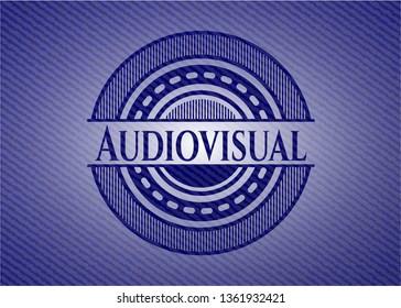 Audiovisual with denim texture