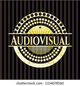 Audiovisual gold emblem