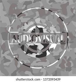 Audiovisual grey camo emblem