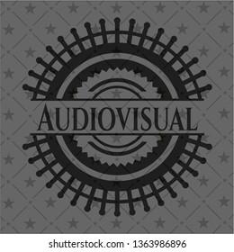 Audiovisual realistic black emblem