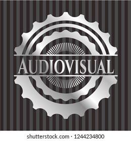 Audiovisual silver shiny badge