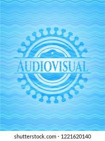 Audiovisual water emblem background.