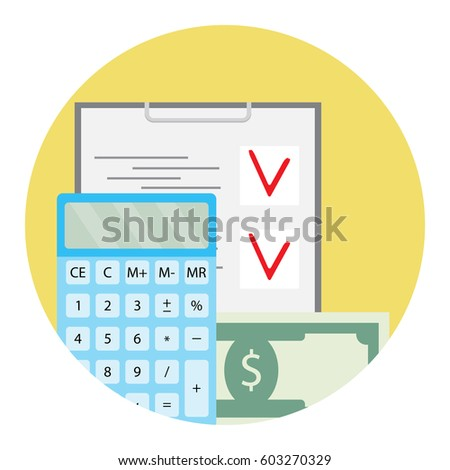 Audit Finance Bookkeeping Accounting Account Data Stock Vector