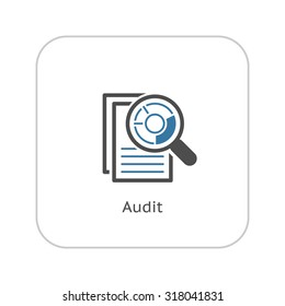 Audit Icon. Business Concept. Flat Design. Isolated Illustration.