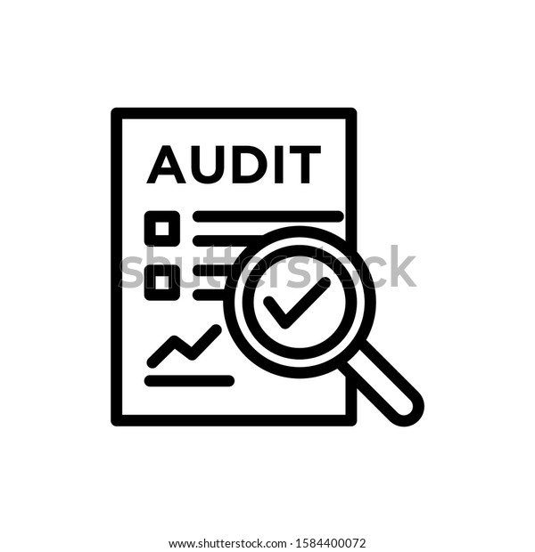 audit icon outline style on white stock vector royalty free 1584400072 https www shutterstock com image vector audit icon outline style on white 1584400072