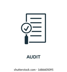 Audit icon. Simple element from audit collection. Filled Audit icon for templates, infographics and more.