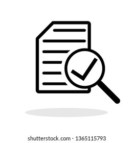 Audit icon in trendy flat style. Verify / Check / Analysis symbol for your web site design, logo, app, UI Vector EPS 10.