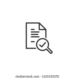 Audit line icon in simple design on a white background