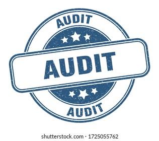 audit stamp. audit round grunge sign. label