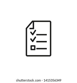 Audit trail line icon. File, document, checkmarks. Information concept. Can be used for topics like data, agenda, inspection