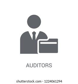 Auditors icon. Trendy Auditors logo concept on white background from business collection. Suitable for use on web apps, mobile apps and print media.