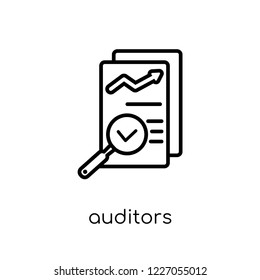 auditors icon. Trendy modern flat linear vector auditors icon on white background from thin line Auditors collection, outline vector illustration