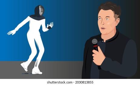 Aug 19, 2021 .At Tesla AI Day, Tesla CEO Elon Musk unveils the Tesla Bot.