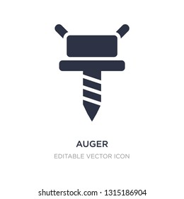auger icon on white background. Simple element illustration from Tools and utensils concept. auger icon symbol design.