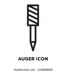 Auger icon vector isolated on white background, Auger transparent sign , line symbol or linear element design in outline style