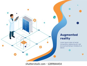 Augmented Reality, Isometric Concept.