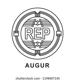 augur coin  Cryptocurrency  icon outline