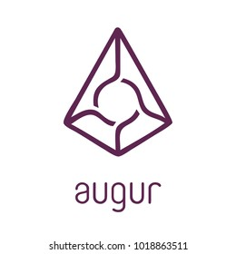 Augur Coin Cryptocurrency Sign