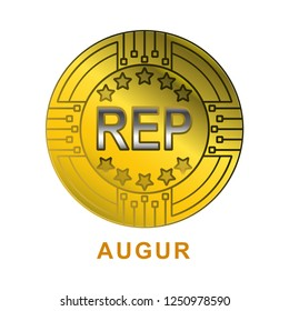 augur coin with gold color