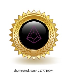 Augur Cryptocurrency Coin Gold Medal Award