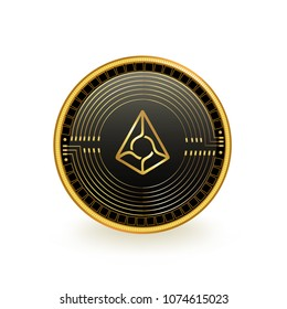 Augur Cryptocurrency Coin Isolated