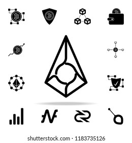 augur debit card icon. Crypto currency icons universal set for web and mobile on white background