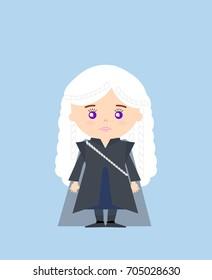 AUGUST 18, 2017: illustration of Daenerys Targaryen (Game of thrones)