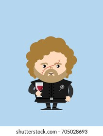 AUGUST 18, 2017: illustration of Tyrion Lannister (Game of thrones)