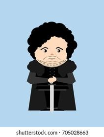 AUGUST 18, 2017: Vector illustration of Jon Snow (Game of thrones)