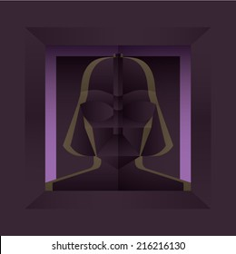 AUGUST 20, 2014: Illustration of Darth Vader
