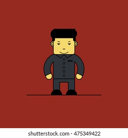 August 28, 2016: A vector illustration of a portrait of North Korean leader Kim Jong-un.