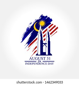 August 31, Independence day of malaysia vector illustration. Suitable for greeting card, poster and banner.