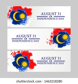 August 31, Independence day of malaysia vector illustration. Suitable for greeting card, poster and banner