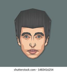 August,2019 : Portrait of Bob Dylan in Symmetrical Style