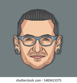 Chester - Linkin Park Stock Vectors, Images & Vector Art