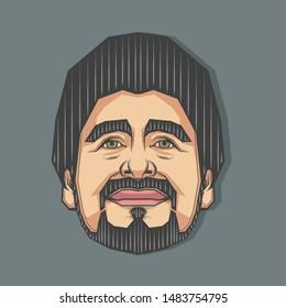 August,2019 : Portrait of Maradona in Symmetrical Style