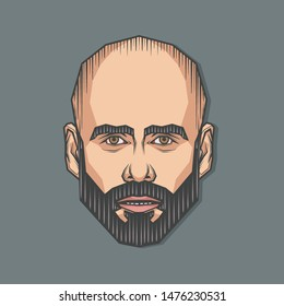 August,2019 : Portrait of Pep Guardiola in Symmetrical Style