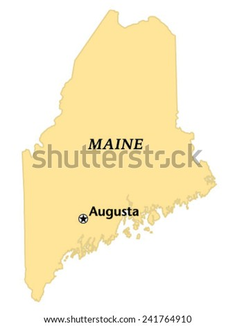 Augusta Maine Locate Map Stock Vector Royalty Free 241764910