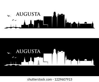 Augusta skyline - Georgia, United States of America, USA - vector illustration