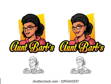 Aunt Barb's Sexy Women Young Old Logo Design