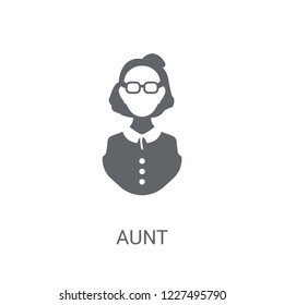 aunt icon. Trendy aunt logo concept on white background from Family Relations collection. Suitable for use on web apps, mobile apps and print media.