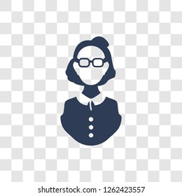 aunt icon. Trendy aunt logo concept on transparent background from Family Relations collection