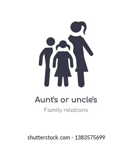 aunt's or uncle's child icon. isolated aunt's or uncle's child icon vector illustration from family relations collection. editable sing symbol can be use for web site and mobile app