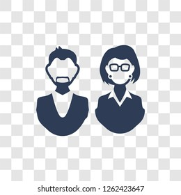 aunt's or uncle's child icon. Trendy aunt's or uncle's child logo concept on transparent background from Family Relations collection