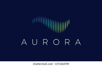 Aurora Logo Design Vector Icon