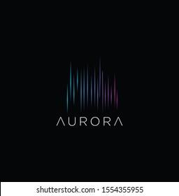 Aurora Logo Icon Design Inspiration Vector Illustration
