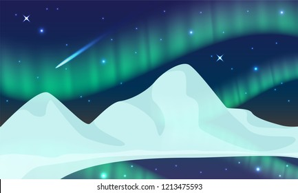 aurora,polar lights,northern lights or southern lights is a natural light display in the Earth's sky, predominantly seen in the high-latitude regions.