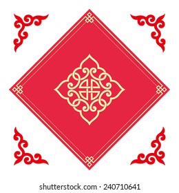 Auspicious patterns and frames of Chinese style