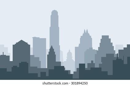 Austin City Morning Skyline