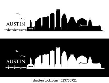 Austin skyline - vector illustration